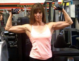 Susan Thomas double bicep front
